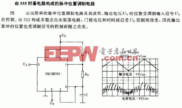 555时基电路构成的脉冲位置调制电路