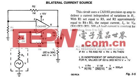 Bilateral Current Source