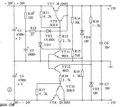 15W纯甲类功放电路图