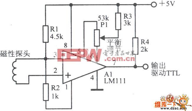 常见的磁性传感前置放大电路原理图