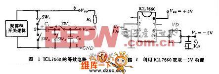 利用ICL7660获取负-5V电源电路图