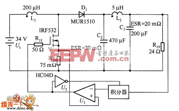 高频开关转换器采用单周期控制电路图