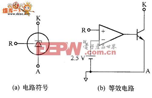 TL431集成电路的电路符号和等效电路图