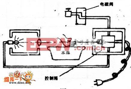 光电自动节水开关的安装电路图