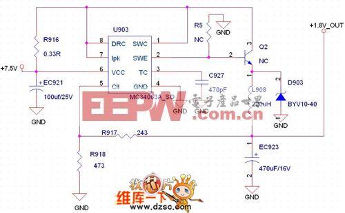 MC34063降压扩流设计电路图