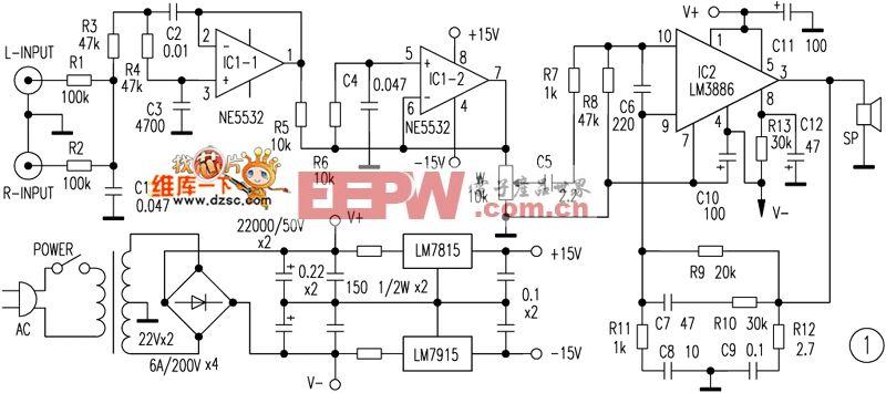 汽车低音炮功放板电路图纸图片 汽车低音炮安装接线图,汽车高清图片
