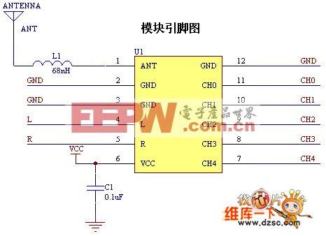 DEMO-80110NE模块引脚电路图
