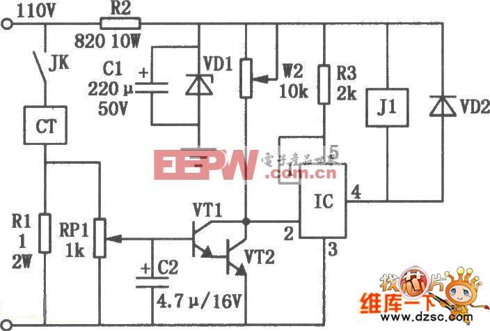 电磁吸盘电路]机床电磁吸盘欠流保护电路图