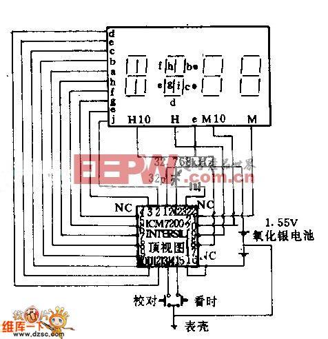 数字式手表电路图