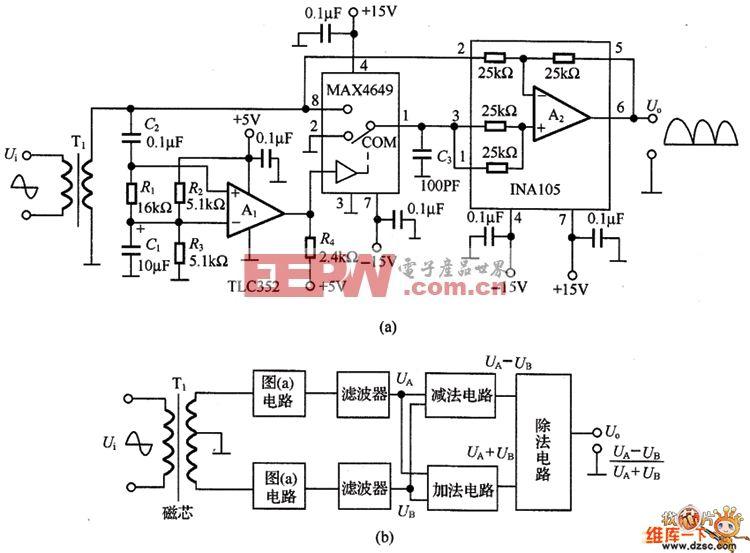 微弱电平信号的检波电路图