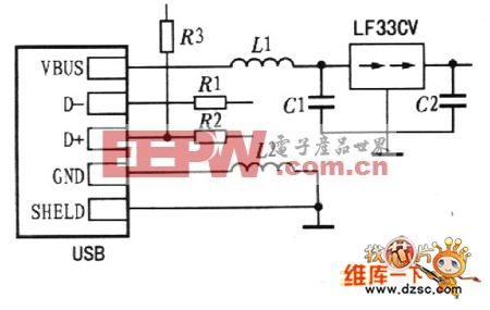 usb接口电路的原理图