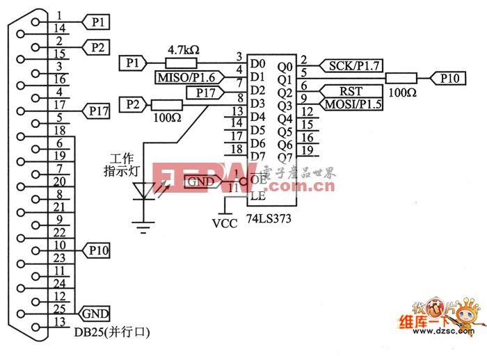 AT89S52下载线电路图