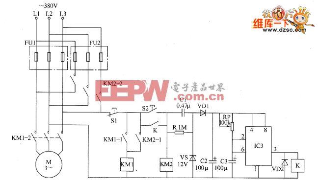 电动机双路保险起动器电路图