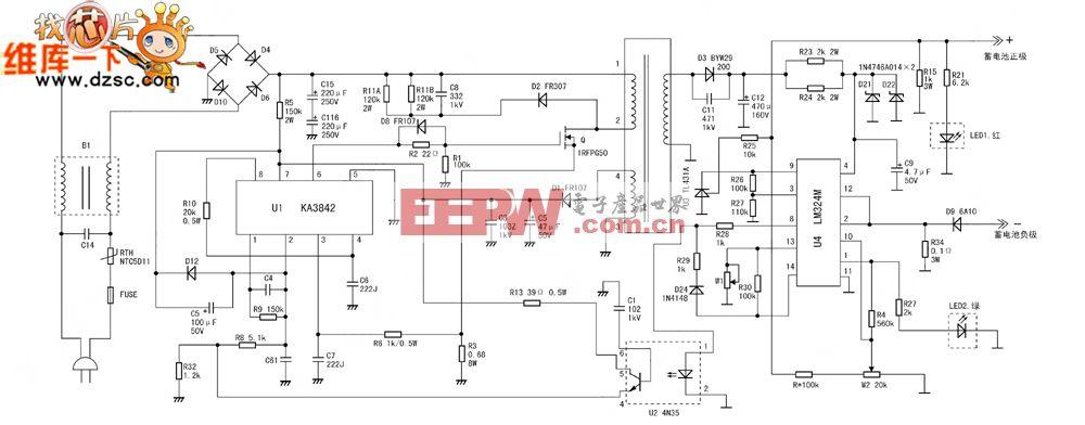 小羚羊SMA-36C3A电动自行车充电器电路图