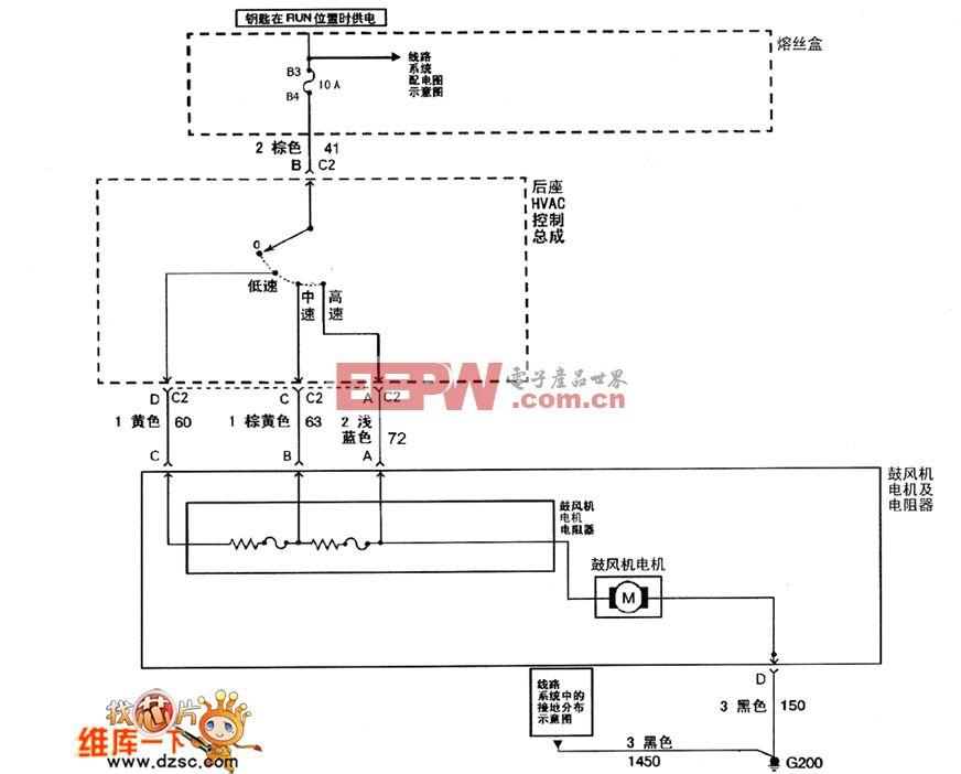 别克君威(regal)轿车的空调系统gl3.0,gs3.0电路图
