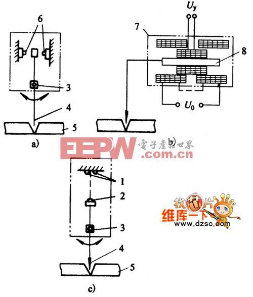 电子式传感器原理电路图
