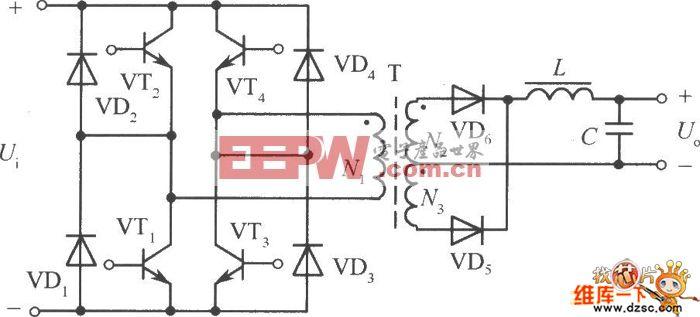 高功率的全桥式变换器电路图