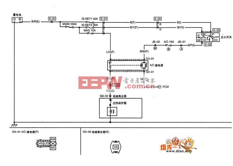 a/c压缩机控制电路图