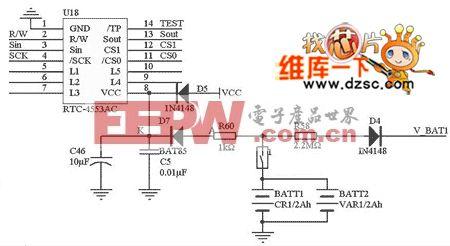 RTC-4553引脚及其外围电路图