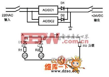 传统电源系统电路图