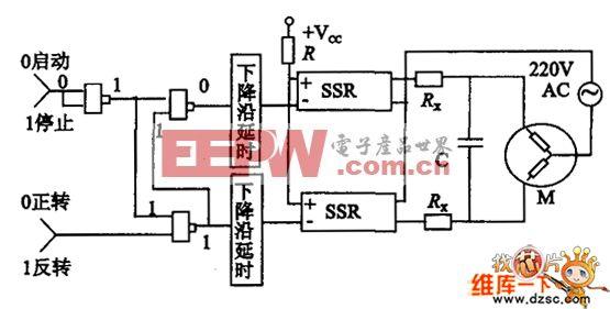 计算机控制单相交流电机正反转的接口及驱动电路图