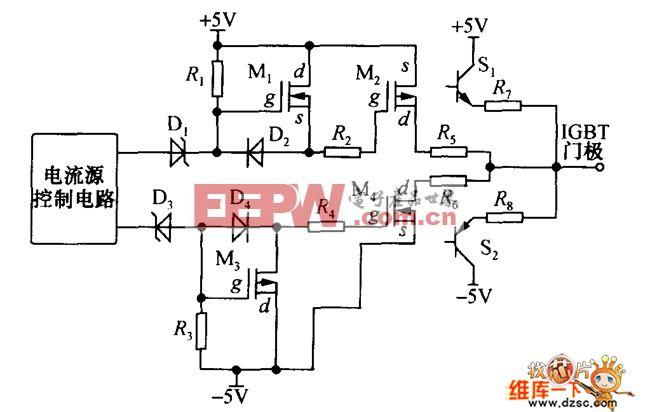动态电流源的RB-IGBT驱动电路图