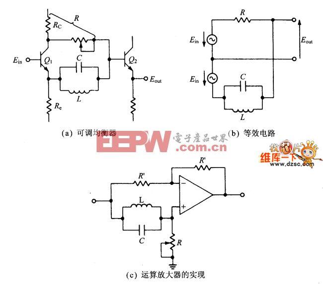 可调的LC延迟均衡器电路图
