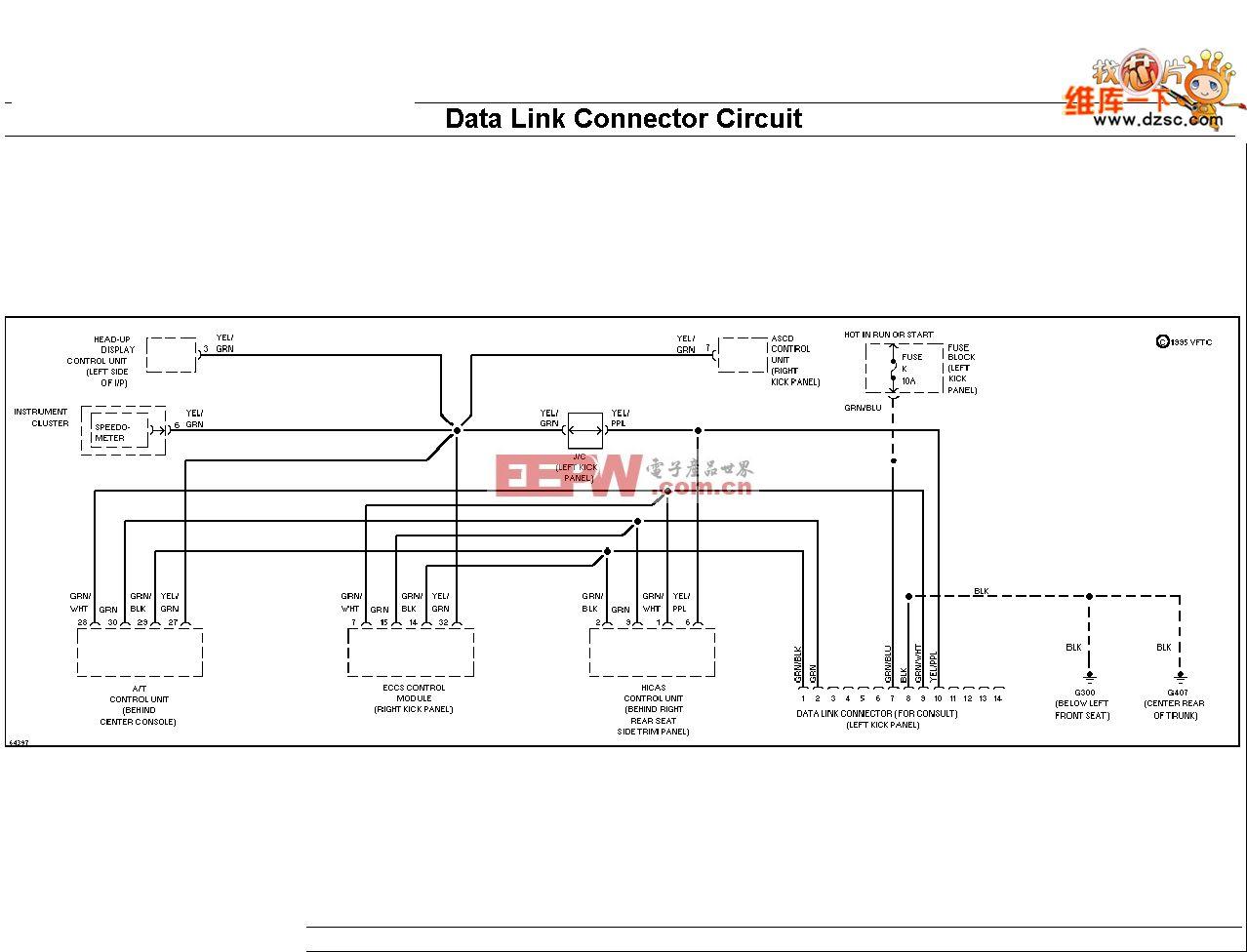 240SX-1994日产尼桑自诊接头电路图
