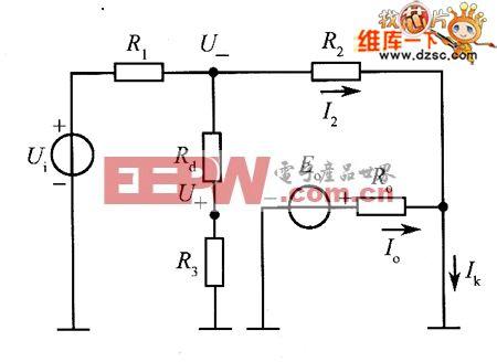 求反相放大器的实际等效输出电阻的计算电路图