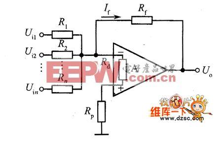 同相放大器反相加法器电路图