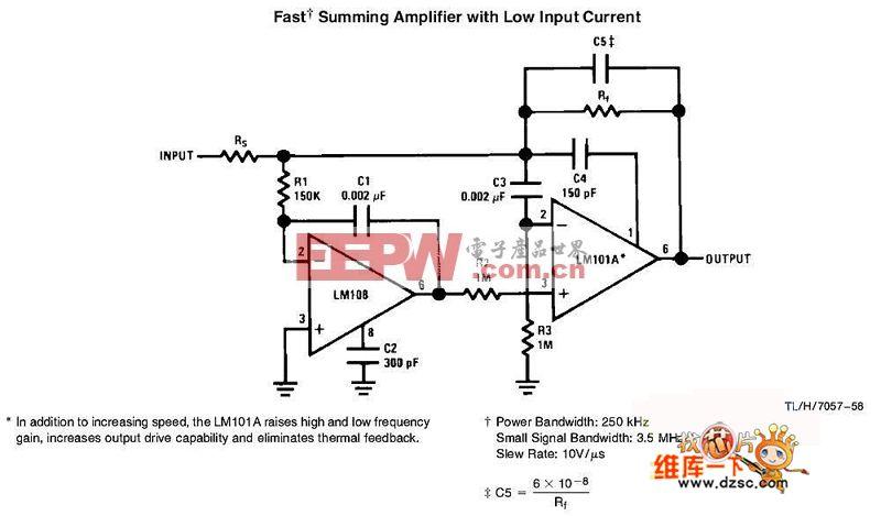 低输入电流的快速加法器电路图