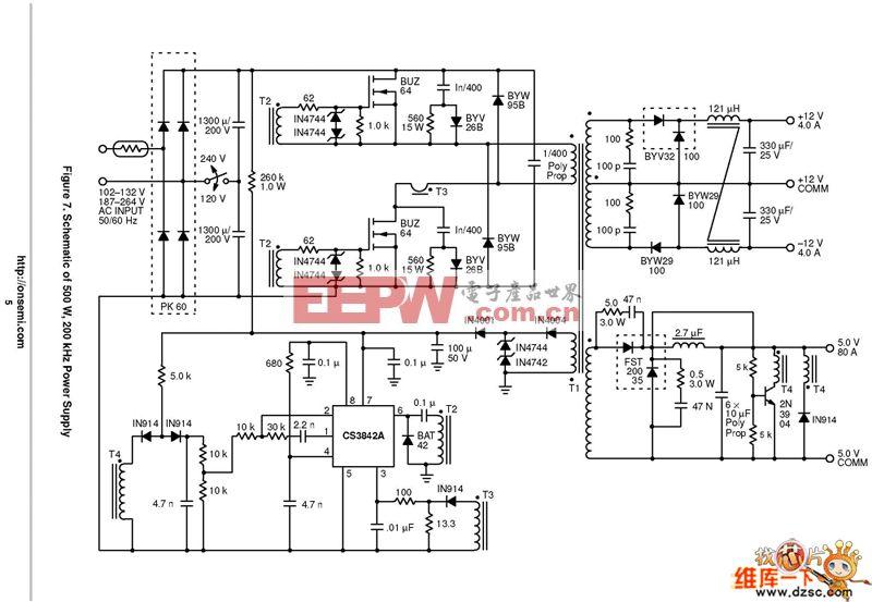 UPS-500W的电路图