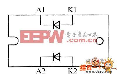 晶体二极管STTH6006TV1、STTH60L6TV、STTH6110TV1内部电路图