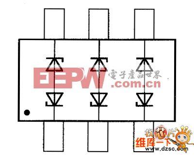 晶体二极管TBZ363C20V8、TBZ363C5VV、TBZ363C6V4、TBZ363C7V0内部电路图