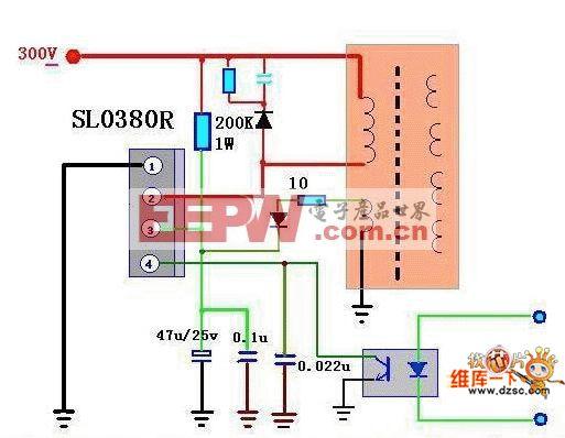 步步高VCD-AB115开关电源电路图