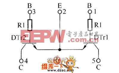 晶体三极管EMG3、UMG3N内部电路图