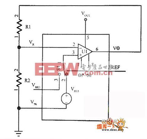 电压调整器和对比度控制电路图