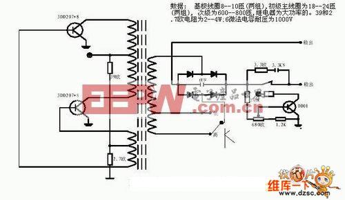 延时关机放电电路图 -综合电路图图片