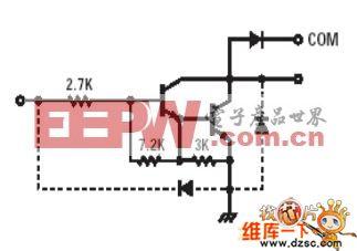 步进电机ULN2003内部框图及等效电路图