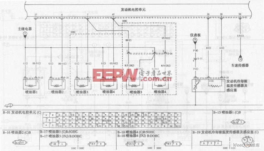 东风悦达起亚千里马轿车发动机电路图三高清图片