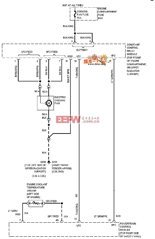 0l)空调风扇电路图_电路图