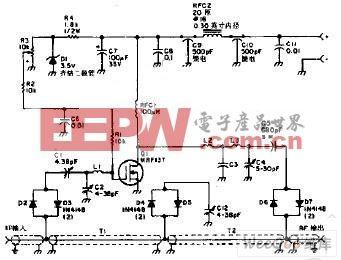 MOST管组成的手提式步话机用功放电路图