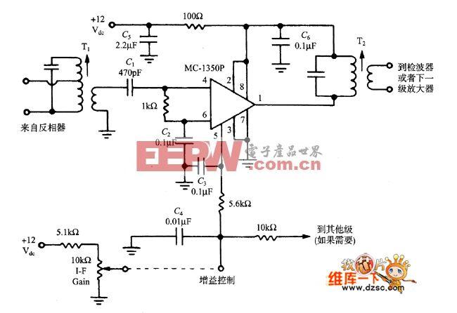 中频放大器集成电路图