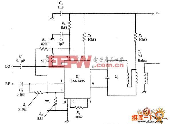 基于LM-1496的混频器电路图
