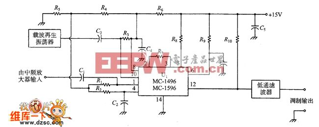 MC-1496乘积检波器电路图
