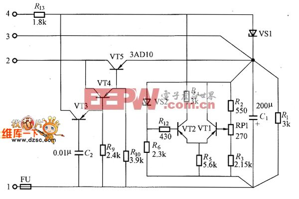 V 0.2A的直流稳压电源电路图图片