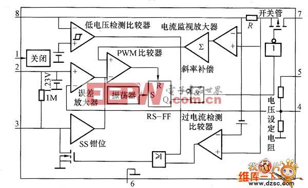 MAX730系列集成稳压器内部等效电路图