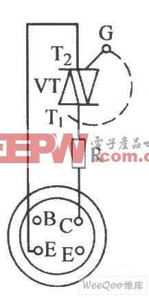 用数字万用表检查双向晶闸管电路图