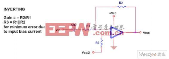 传统的运算放大器组成的反相衰减器电路图