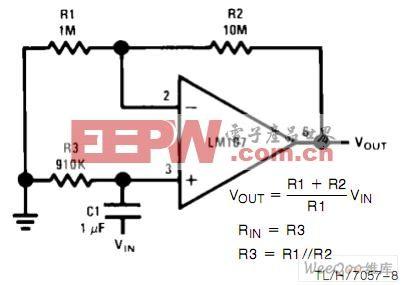 非反相交流放大器电路图